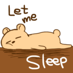 Lazy easygoing bear