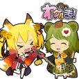 Waguruma Sticker (Outfox each other)