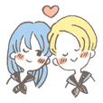 Ann&Stef (in sailor suit school uniform)