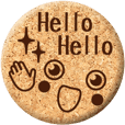 cork coaster / emoticons & message