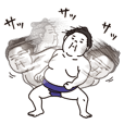Very agile sumo wrestler