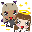 Cute Angel and Cute Demon