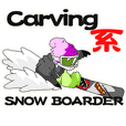 carving system snowboarder.