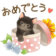 Cat sticker (Congratulation message)