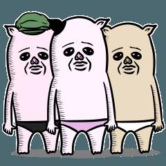 3匹の豚姉さん