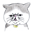 Kansai dialect chubby cat sticker