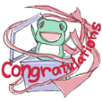 StrawberryFrog with Congratulations