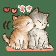 可愛い子猫の日常スタンプ