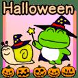 Frog's Halloween sticker