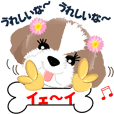 A message of  dog Mick 2 Hokkaido ver.