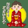 穿和服的咪咪小姐 (日本風格的貼圖)