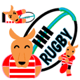 Rugby Sticker(Wallaby) 3 (Live Scores)