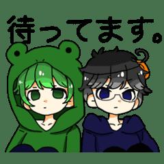 かえるとうさぎさん 暁ノ水さんスタンプ