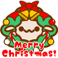Sheep sticker at Christmas