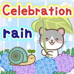 Natural animal, happy rainy day english