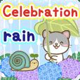 Natural animal, happy rainy day english