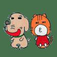 犬のぽんちゃんと猫のみぃちゃん