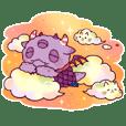 怪獣Nemuke Sticker-taiwan ver.