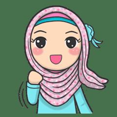 Flower Hijab Daily Talk Line Stickers Line Store
