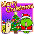 Frog's Christmas sticker