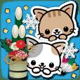 和風な猫ちゃん4♪冬と年末年始