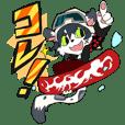 """Snowboarder mascot """"Hyoma"""""""