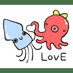 恋するイカくん&タコちゃん