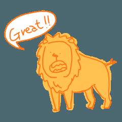 Animals sticker [English]