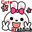 Cute Rabbita Girly Sticker