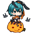 Charming boys autumn and Halloween