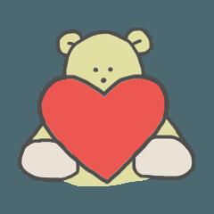 Dull yellow BEAR