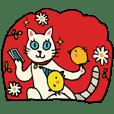 お絵描きすずめの猫スタンプ その1