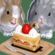 ふわふわウサギのスタンプ2
