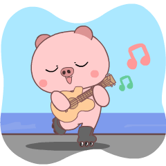 Cute Pig : Animated