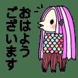 Amabie kawaii sticker