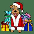 テリア犬たちの楽しいクリスマスパーティ!