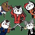 死語スタンプ〜ファッショナブルな猫達〜