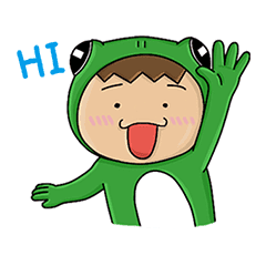 The Frogman Coming Line Stickers Line Store
