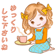 Lovely girl daily stickers