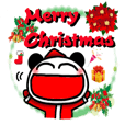 Christmas panda Sticker