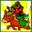 關公與可愛的赤兔馬