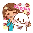 Seal&Girl lovely sticker [English]