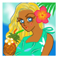 Tropical Island girl Nina