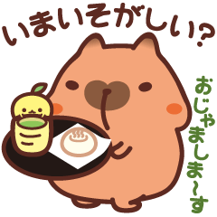 Capybara stickers2