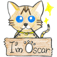 001_Bengal Cat Sticker(Handwriting)