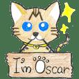 001_ベンガル猫スタンプ(てがき版)