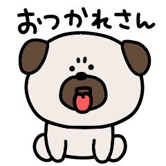 Surrealistic pug Kansai dialect