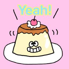 Pretty caramel pudding