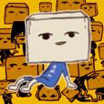 "Pride high tofu "" Firm tofu -kun "" stamp"