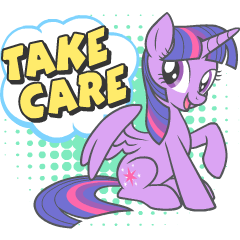 MY LITTLE PONY Take care sticker